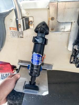 mv Archimedes test fit port trim tabs 1