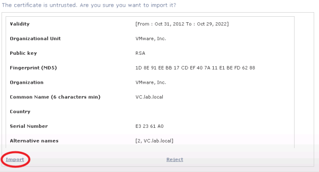 Importing SSL Certificates