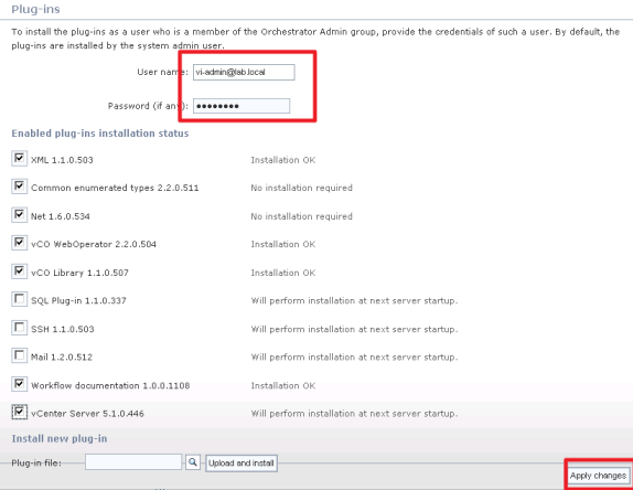 Installing the vCenter Plug-in