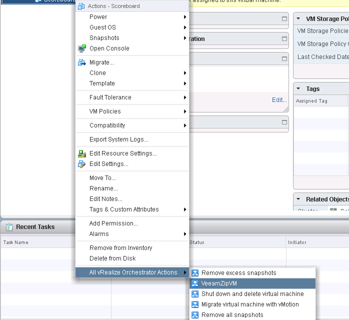 Running free VeeamZip directly from the vSphere Web Client