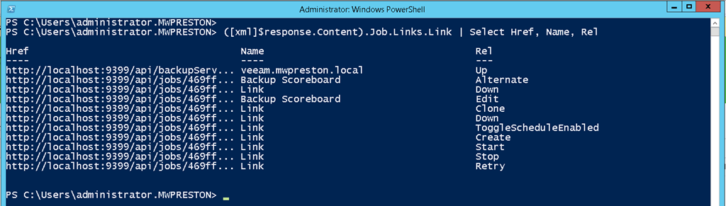Consuming the Veeam REST API in PowerShell - Part 1