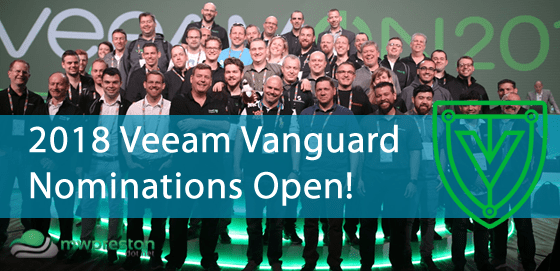 2018 Veeam Vanguard nominations are now open!