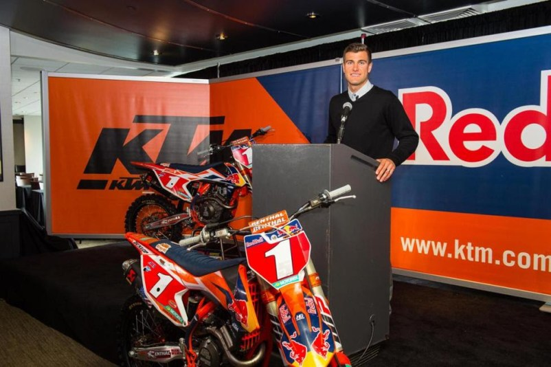 Dungey announced his retirement from professional racing on Tuesday.Photo Courtesy: Red Bull KTM / Simon Cudby