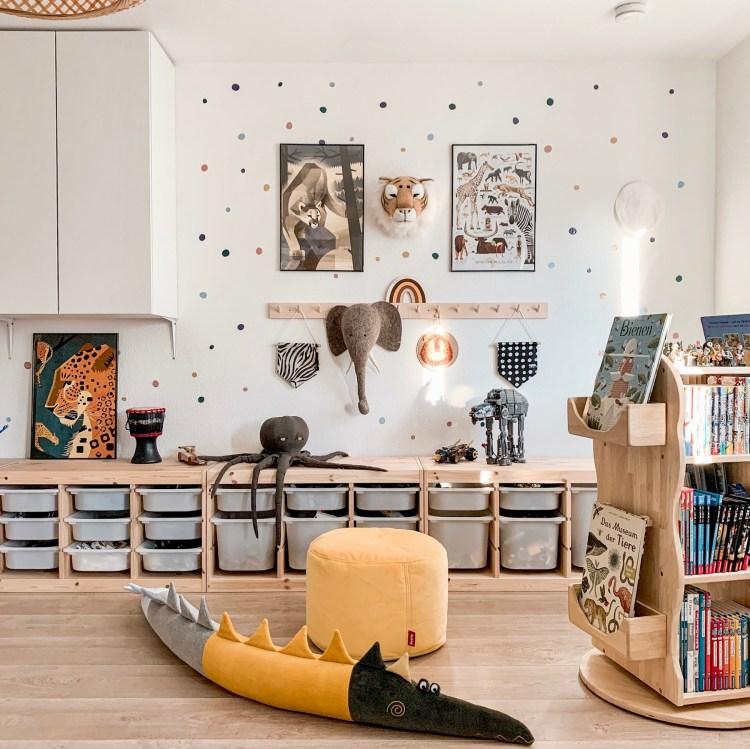 Fantasyroom Blog: Die schönsten Instagram Kinderzimmer - Spielzimmer mit Stauraum