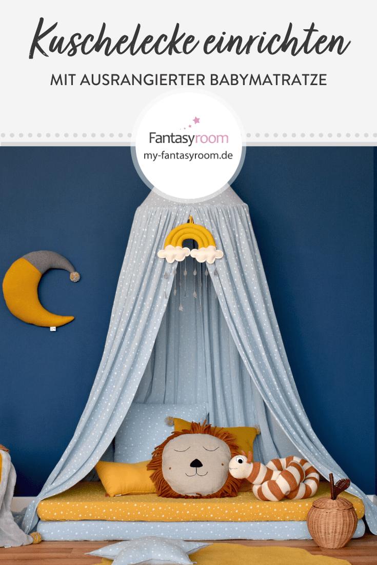 Mit alten Matratzen und neuen Spannbettlaken schnelle Kuschelecke im Kinderzimmer einrichten