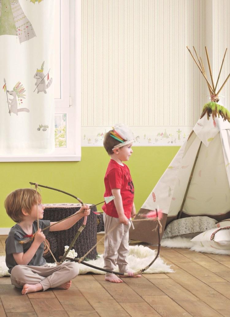Indianertapeten für Jungenzimmer von Casadeco