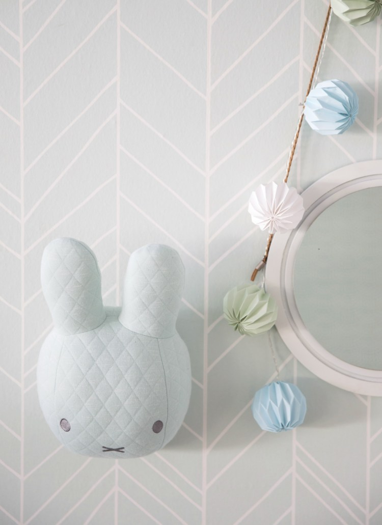 Miffy Wanddeko in Mint