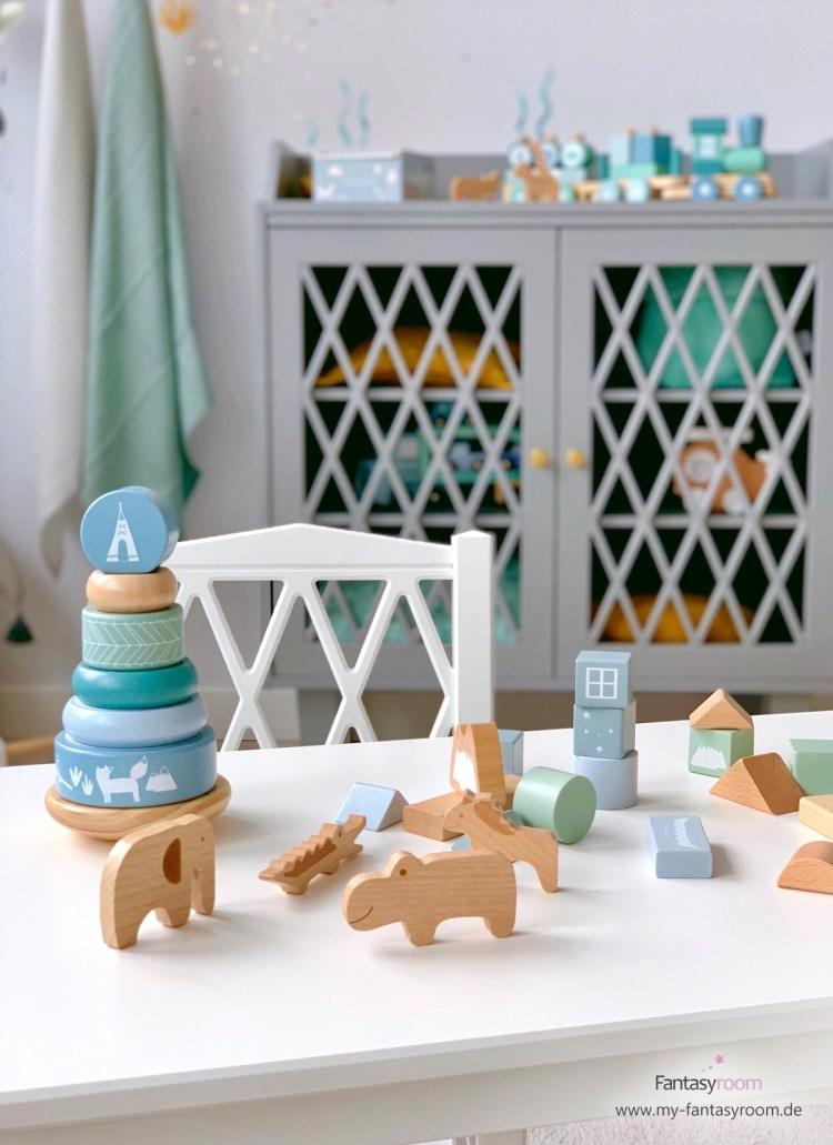 Stapelturm von Little Dutch mit Zootieren aus Naturholz