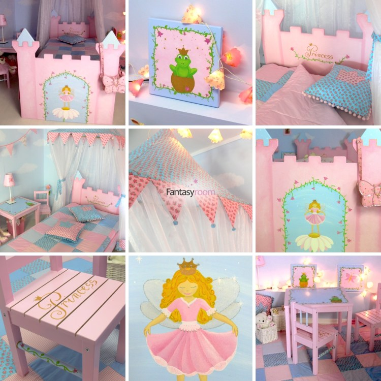 Fantasyroom Prinzessinnenmöbel in Rosa und Hellblau