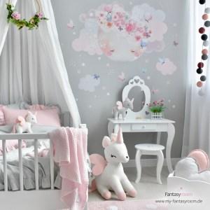 Prinzessinnenzimmer in Rosa & Grau