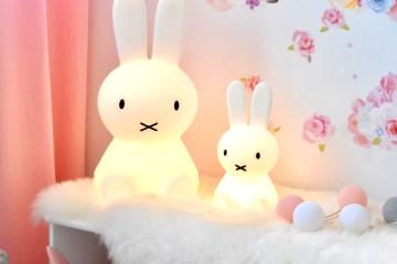 Miffy Lampen im Kinderzimmer für Mädchen