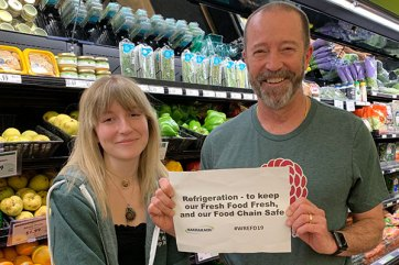 Barry Phillips celebrates World Refrigeration Day at his local food co-op.
