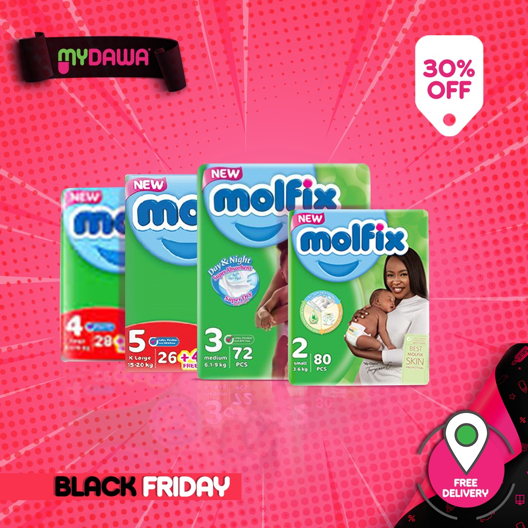 30% off on all Molfix Diapers this Black Friday