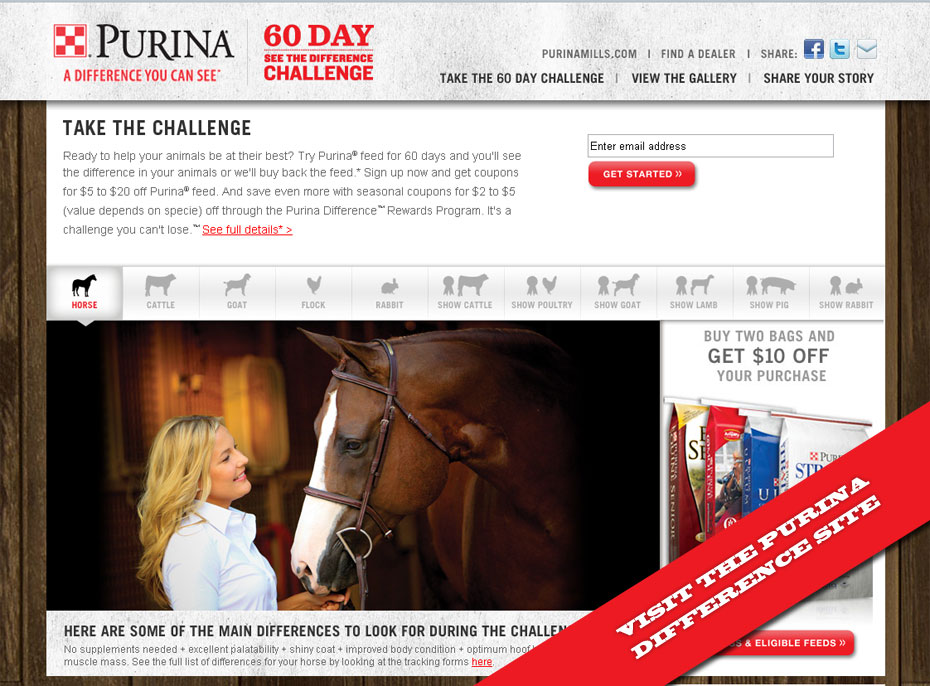 This is a screen capture of the Purina Difference site.