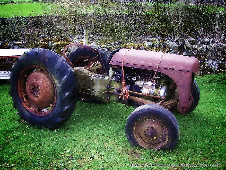 A Rusted Tractor by Russell J. Smith