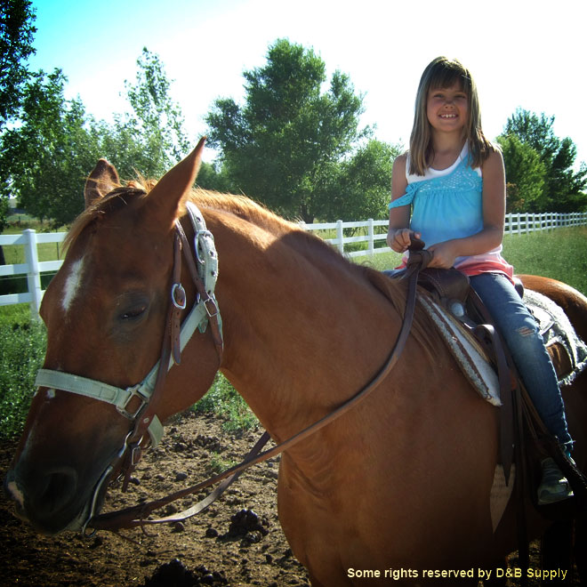 Kyla and her Horse