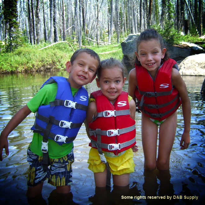 Kids in Cold Mountain Water