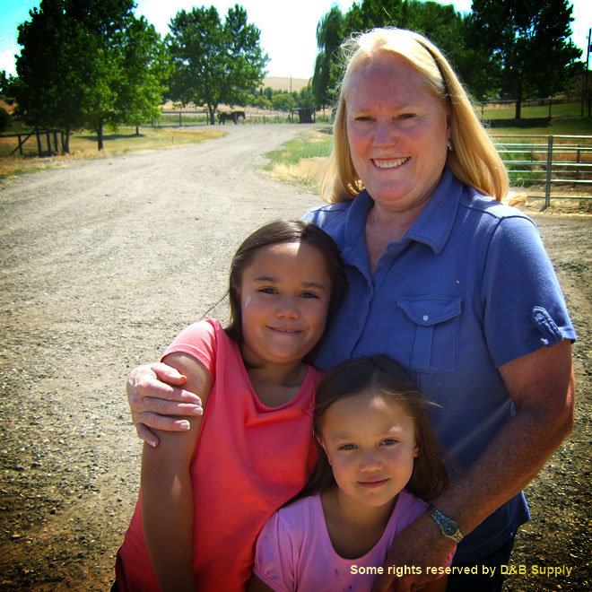 Vicki and her granddaughters