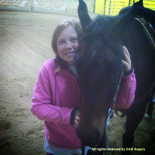 Molly and her horse