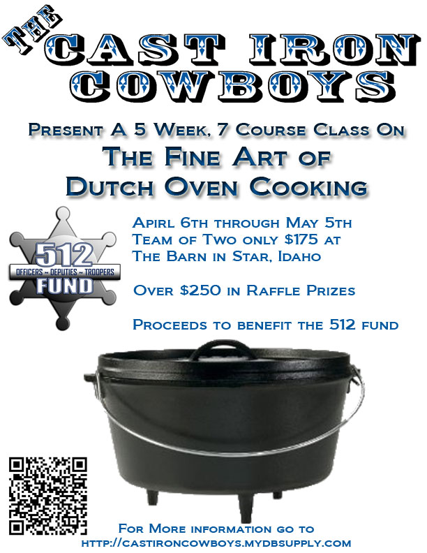 Cast Iron Cowboys Cooking Class Poster