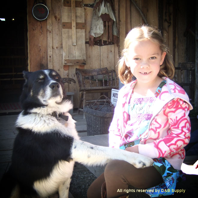 Girl and a Ranch Dog