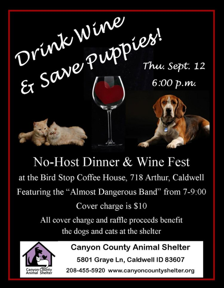 Drink Wine and Save Puppies poster