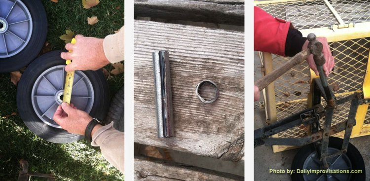 How to fix a wagon tire
