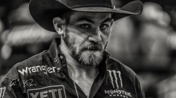 Chase Outlaw PBR Bullfighters at Nampa DeWALT INvitational