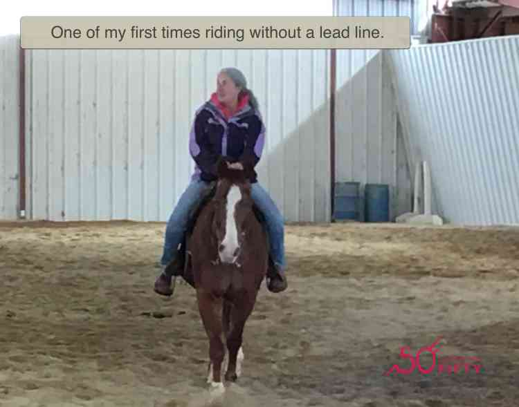 11302018 Laura Blodget Blog Not too old to ride - one of first times riding solo
