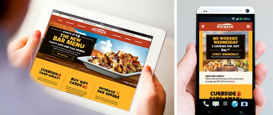 How Outback Steakhouse's Website aims to Improve the online experience