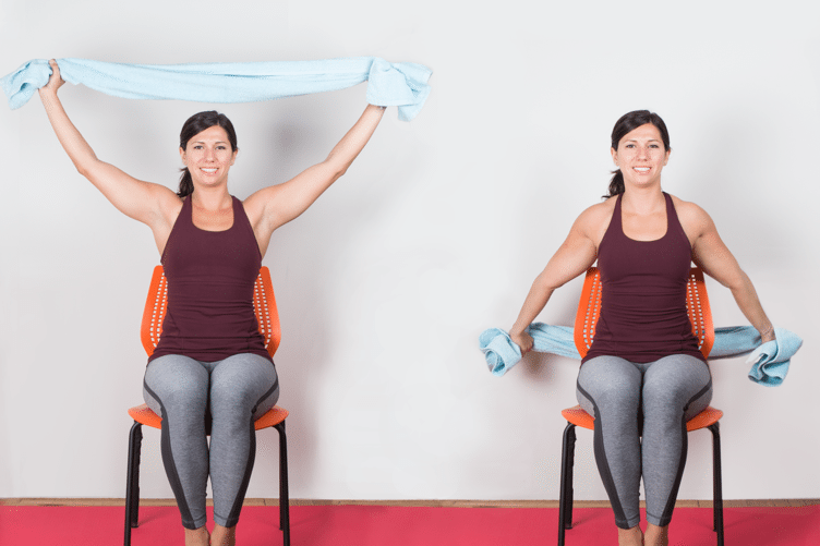 Yoga Arm Stretch Towel