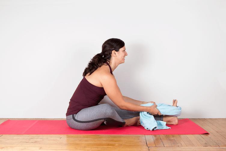 Yoga Calf Stetch Towl