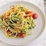 Low-Carb Pesto Chicken & Veggie Pasta