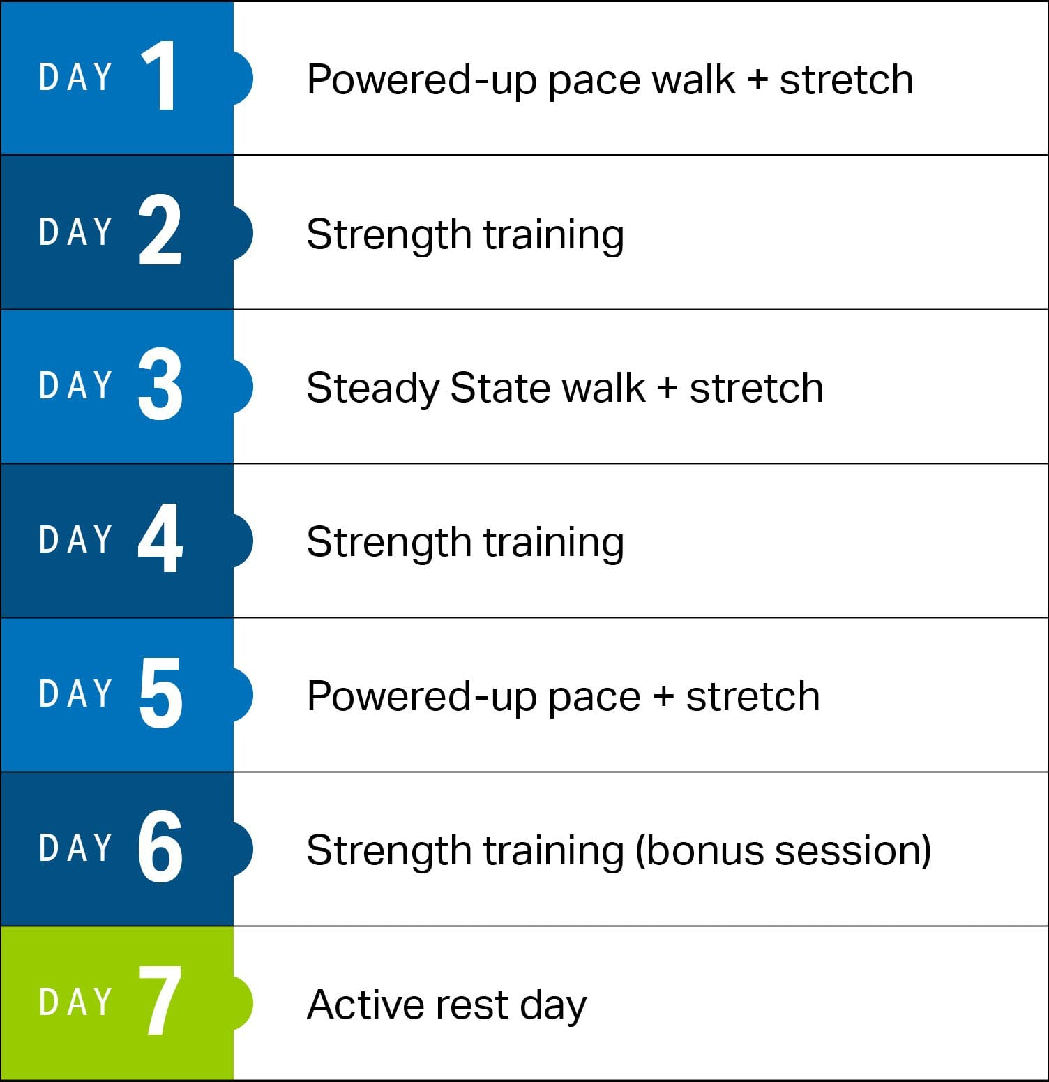 hight resolution of while this is a walking plan we recommend including additional strength and flexibility sessions to boost the body shaping and weight loss benefits of this