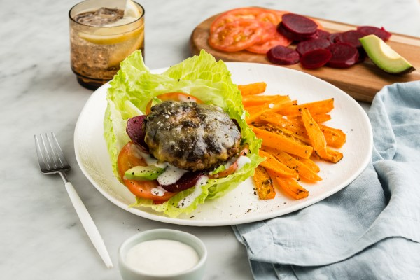 Naked Beef & Cheeseburgers with Avo & Beetroot