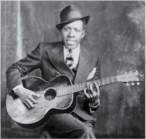 Robert Johnson et sa guitare blues