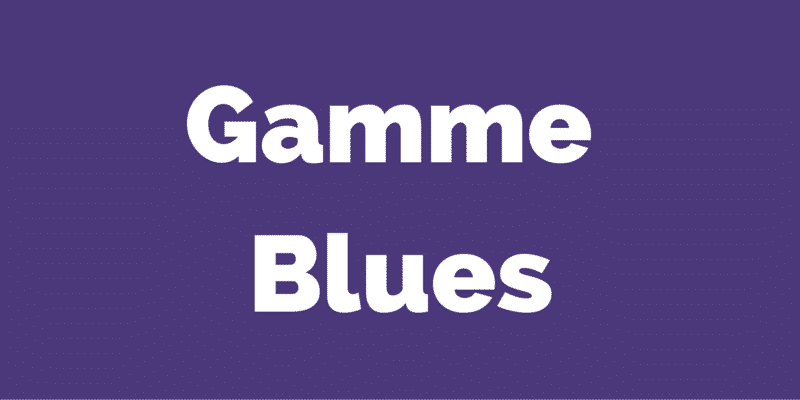 gamme blues guitare