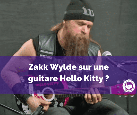 Zakk Wylde reprend du Black Sabbath sur une guitare Hello Kitty