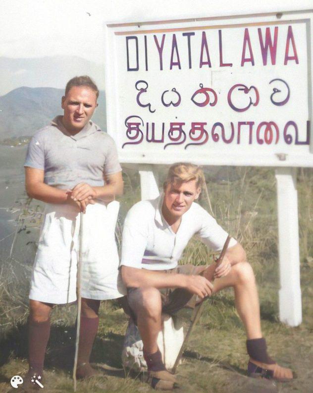 From left Billy McGuire and fellow survivor [Credit: Ken McGuire]