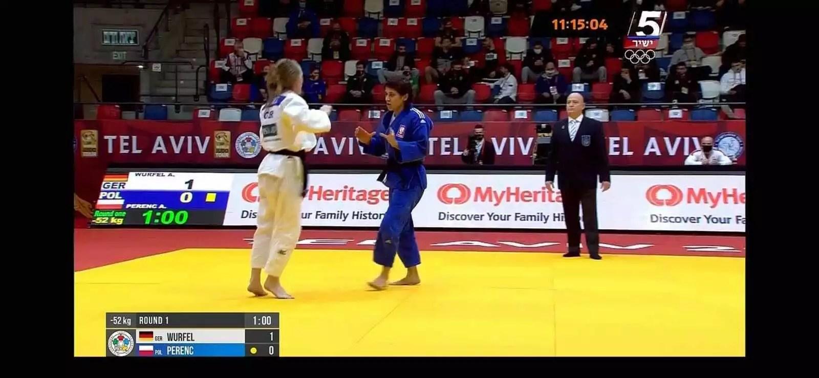 MyHeritage sponsors the Tel Aviv Judo Grand Slam 2021 Tournament [Credit; MyHeritage]
