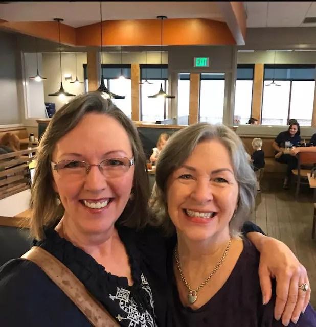 Meeting Jill Binder, another Barlow cousin, in Oklahoma