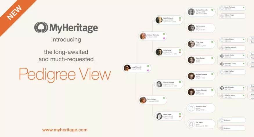 new feature pedigree view
