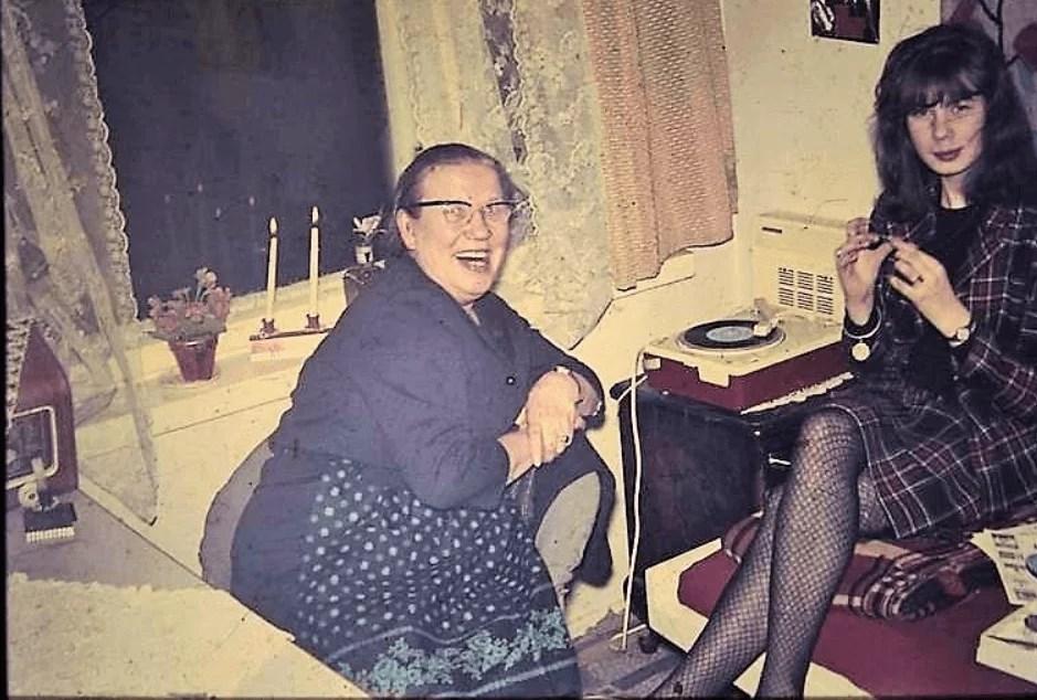 From left Aunt Kaisu with Salme Talvirinne