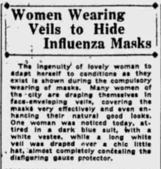 Article in The Daily Californian, Bakersfield, California, October 1918