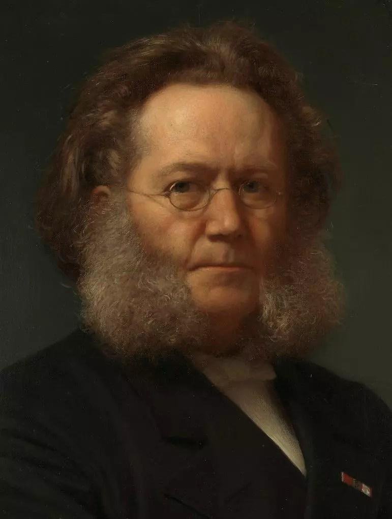 Portrait of Henrik Ibsen by Henrik Olrik, 1879. [Credit: National Museum of Art, Architecture and Design, Oslo]