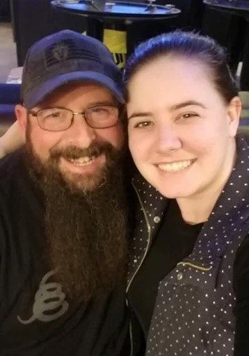 Kara with her biological father, Mark