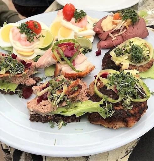 Smørrebrød – the traditional Danish open–faced sandwich.