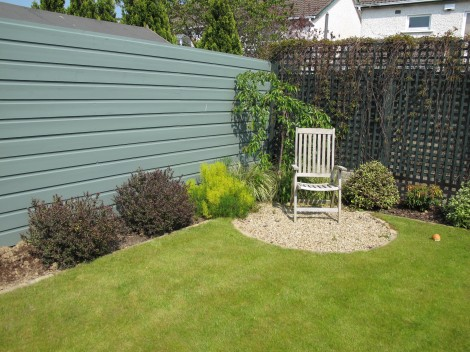 Colourful timber fencing