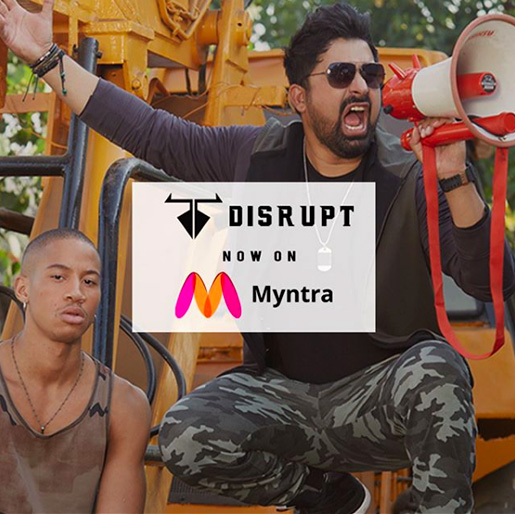 Rannvijay of Roadies Fame Launches 'Disrupt' with Myntra