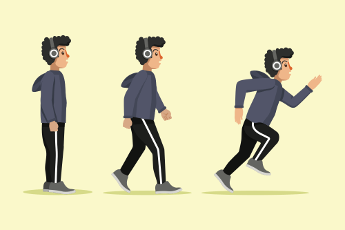 Starting slow and walking before running concept